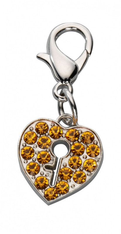Europet-Bernina Colgante Locked Heart Czech Crystal  Oro