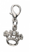Pendant Crown Czech Crystal Hvid