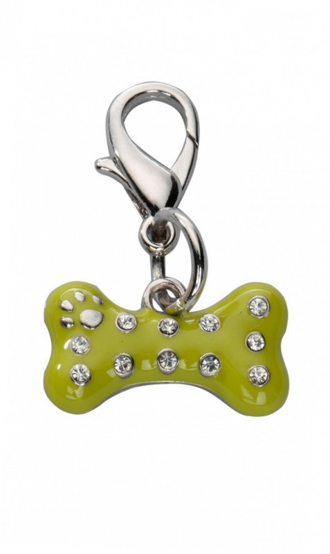 Europet-Bernina Pendentif Naughty Bone Czech Crystal  Kaki