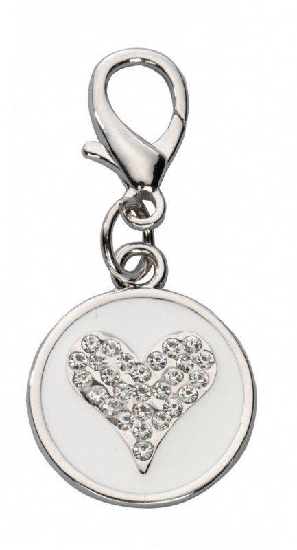 Europet-Bernina Colgante Crystal Heart Czech Crystal Blanco