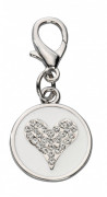 Europet-Bernina Pendant Crystal Heart, Czech Crystal Branco