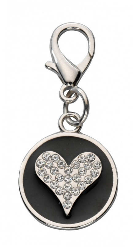 Europet-Bernina Pendant Crystal Heart, Czech Crystal Black  buy online