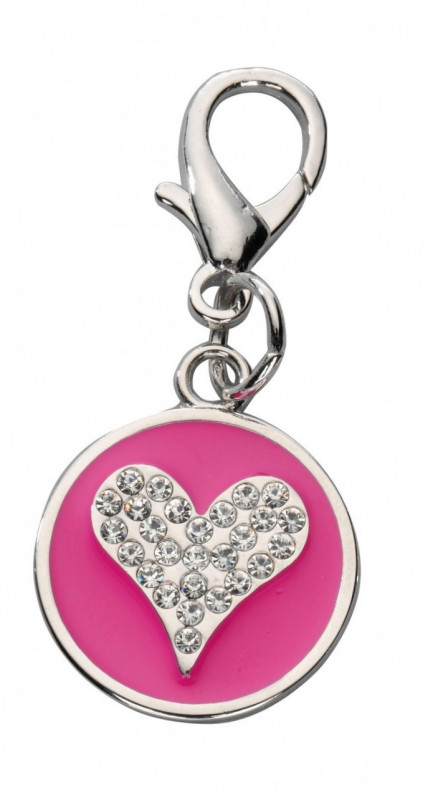 Europet-Bernina Pendant Crystal Heart, Czech Crystal  Hot pink  order cheap