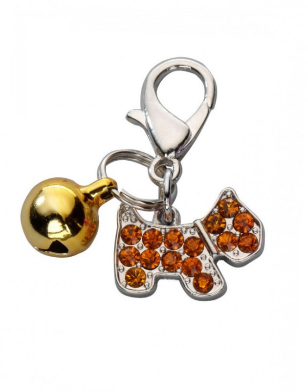 Europet-Bernina Pendant Happy Dog, Czech Crystal  Gold  order cheap