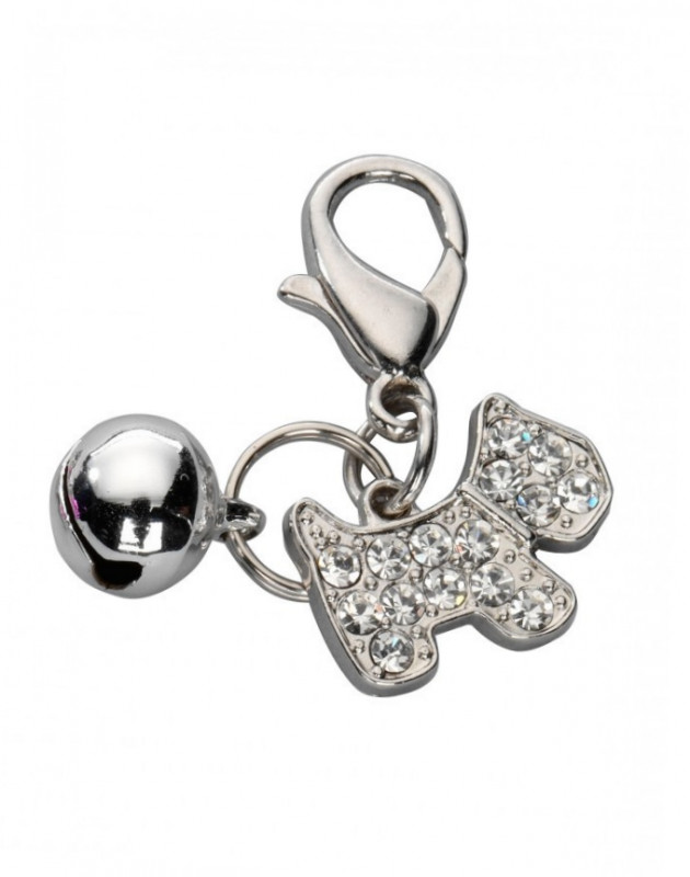 Europet-Bernina Pendant Happy Dog, Czech Crystal White  buy online