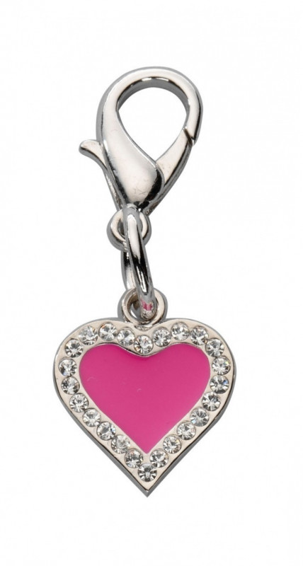 Europet-Bernina Colgante Heart Czech Crystal Rosa caliente