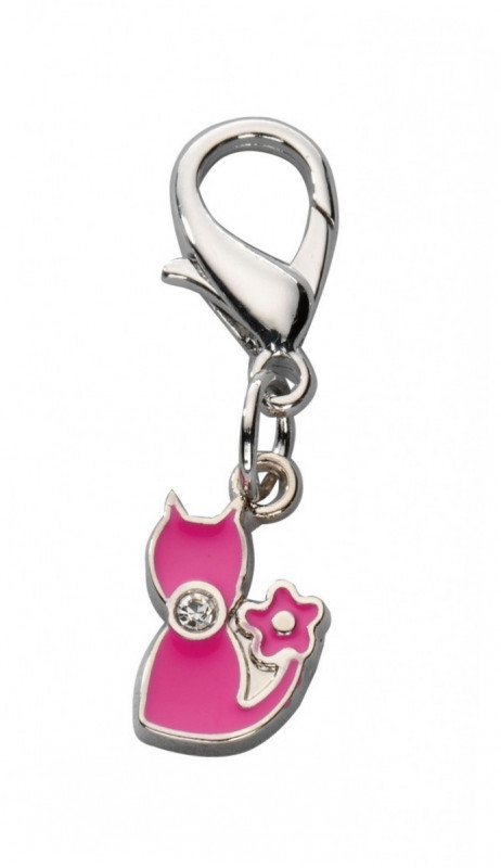 Europet-Bernina Anhänger Sweety Cat Czech Crystal  Heißes rosa