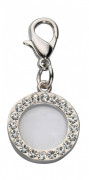 Pendant Crystal Photo Frame, Czech Crystal Hvid