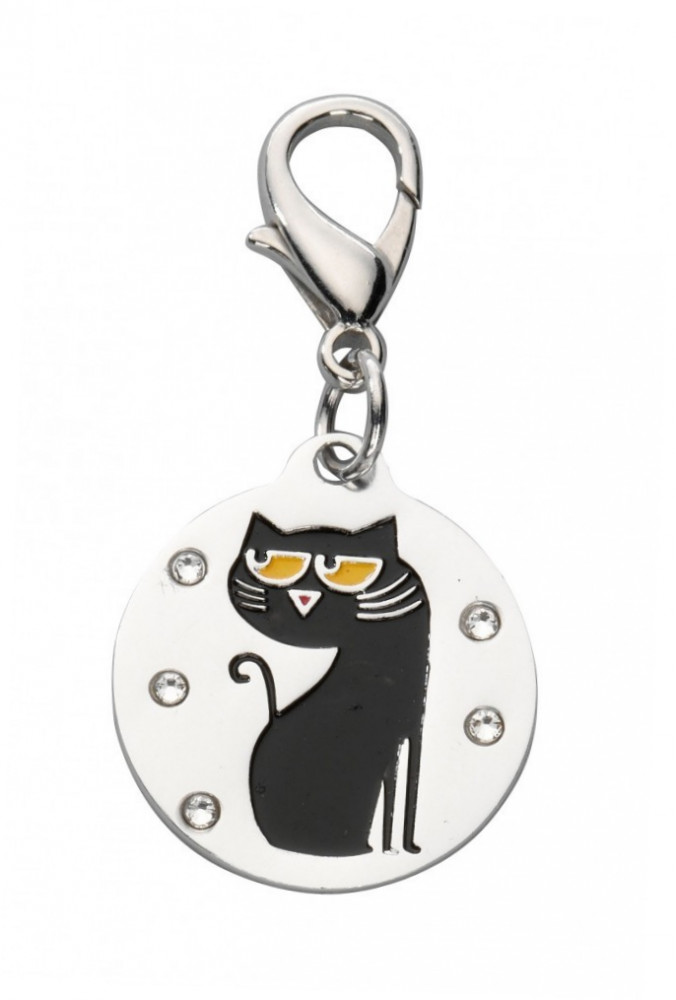 EBI Pendentif Cartoon Cat Swarovski Crystal 2.6x2.3 cm
