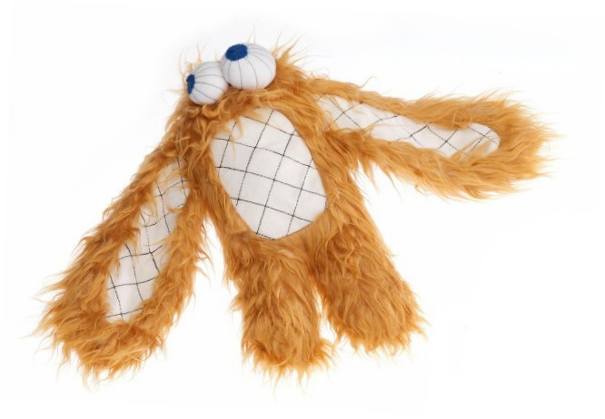 EBI Plush Dog Shag Eye brown Hell orange 45x30 cm