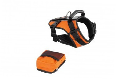 Europet-Bernina Sport-Harness Crazy Paws S  Naranja S