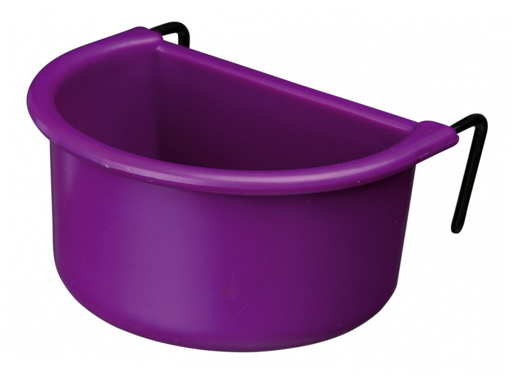 Trixie Set of Hanging Bowls with Wire Holder, Plastic  75/85 ml