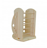 Feeding Tower for Hay and Carrots Beige