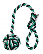 Denta Fun Playing Rope with Woven-in Ball ø7/50 cm