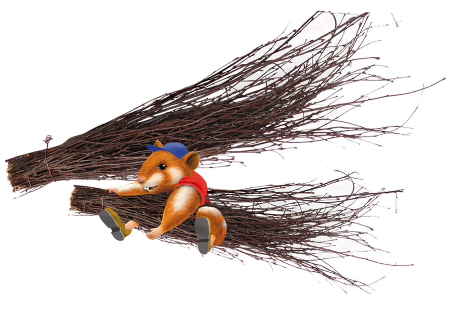 Hugro Rodent's Nibble Broom  4017169382157