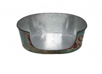 Zinc Basket Closed 72x58x22 cm
