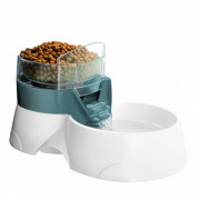 2in1 Pet Feeder Harmaa
