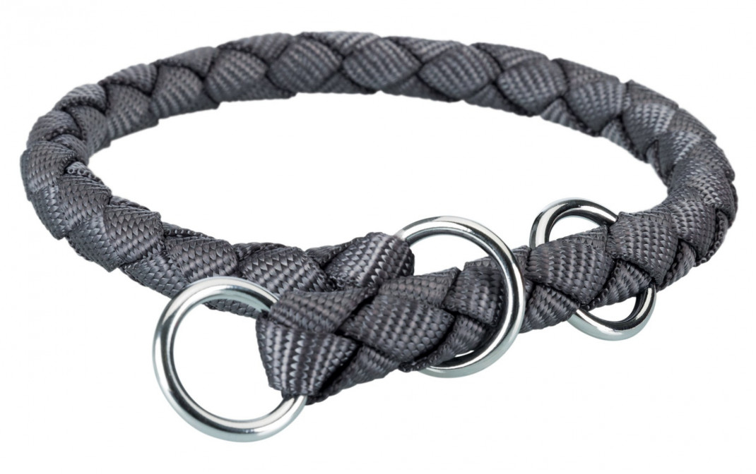 Trixie Cavo Stop-the-pull Collar Dark gray 52-60x1.8 cm buy online