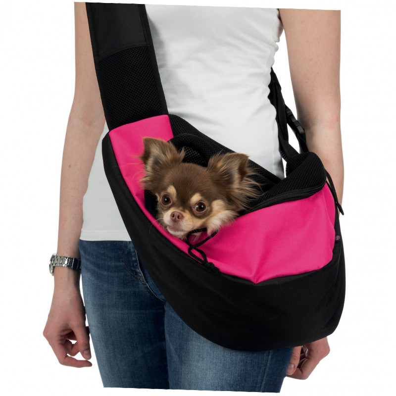 Trixie Sling Front Carrier, pink/black 50x25x18 cm  buy online