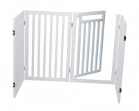 Dog Barrier with Door, 4 parts Wit