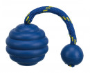 Sporting Wavy Ball on a Rope, Natural Rubber and Polyester ø7 cm