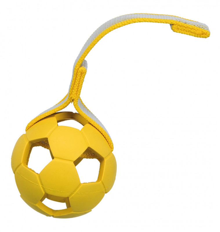 Trixie Sporting Ball on a Strap, Natural Rubber and Polyester