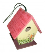 Dwarf Bird House Red