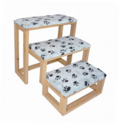 Elmato Dog/Cat Stairs with Paws 35x40x50 cm