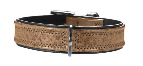 Hunter Collar Linum  Taupe 42-48x3.5 cm
