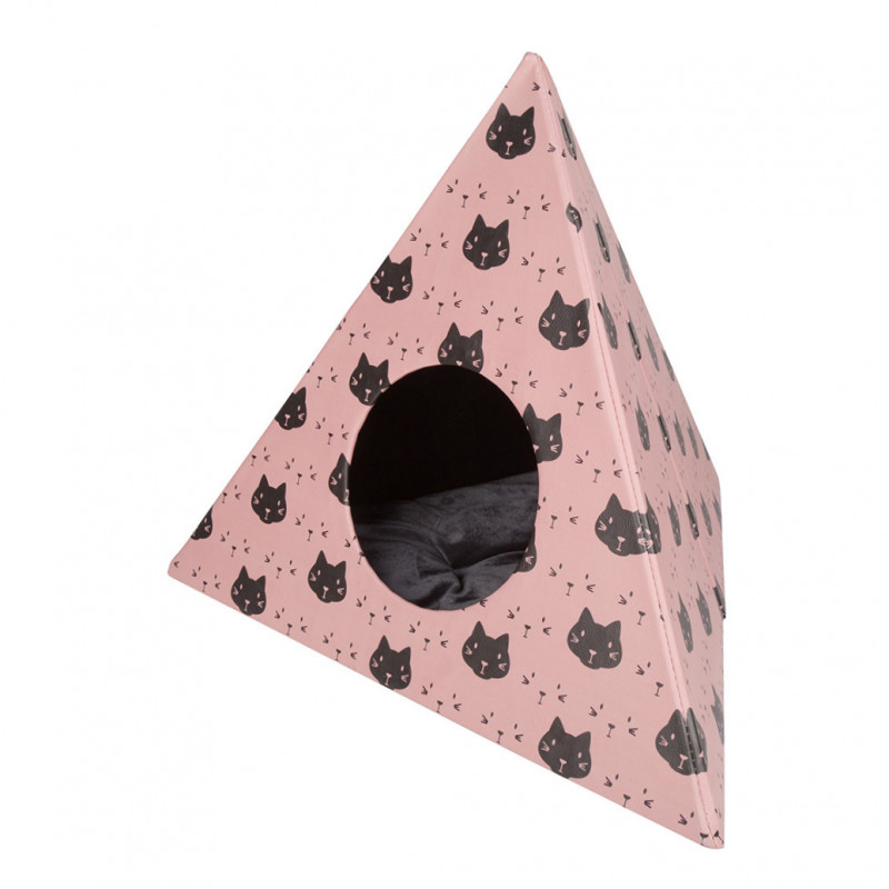 District 70 Triangle Cats  Rose 60x60x50 cm