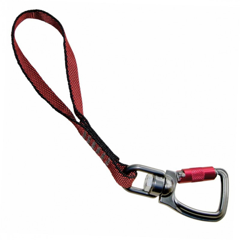 Kurgo Sangle d'attache avec Mousqueton rotatif, rouge 25.4 cm