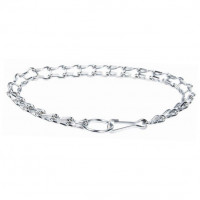 Chromium-Plated Collar with Carabiner 4