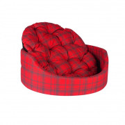Chaba Oval Bed with a Pillow Collection Standard