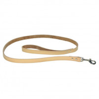 Leather Leash Beige