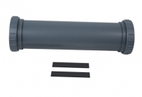 Main Tube with Ring Nuts for Pond UV-C System 55 W Grijs